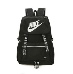 Wholesale backpack middle school - 2018 new sports and leisure travel waterproof backpack youth tide male middle school student bag campus mens wallet