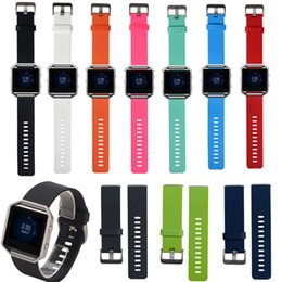 Wholesale Silicone Wristband Strap - Replacement Soft Silicone Wrist Band Strap Bracelet Watchband for Fitbit Blaze Sport Watch Wristband (No Tracker)