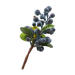 Посадка черники онлайн-Декоративные черника фрукты ягоды искусственный цветок шелковые цветы фрукты для свадьбы украшения дома искусственные растения синий