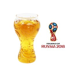 Wholesale engraved design - Creative World Cup Engraving Design Glass Cup Drinking Glass Beer Stein Wine Beverage Hot Sale NNA133