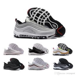 online store 3f723 d5b0c nike air max 2018 97 Chaussures de course 97s SE OG Or Argent Bullet Triple  Blanc Noir Hommes Femmes Baskets Casual Sports Sneakers Taille 36-46  Livraison ...