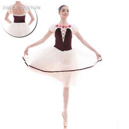 2019 vestiti del manicotto del soffio per le ragazze Nuovo arrivo di Adult Girls Puff Sleeve Ballet Dance Tutu Dress 18442 sconti vestiti del manicotto del soffio per le ragazze