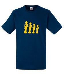 2019 design t-shirt jaune T-shirt bleu marine à la silhouette footballeur Leeds Silhouette jaune pour homme design t-shirt jaune pas cher