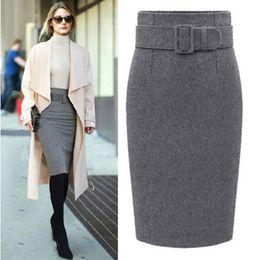 2974202f7b4 new fashion autumn winter cotton plus size high waist saias femininas  casual midi pencil skirt women skirts female