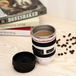 2020 coperchio dell'obiettivo New 400ml Stainless Steel Camera Lens Mug With Lid New Fantastic Coffee Mugs Tea Cup Novelty Gifts Caneca Lente Cups Drinkware HH-C23
