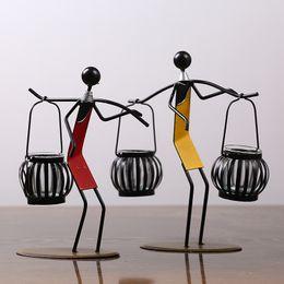 Handwerk kunst online-Arts Crafts Eisen Kunst Kerzenständer Foto Requisiten Minimalismus Kerzenhalter Dekorieren Hand Made Originalität Metall Romantische Kerzenhalter 19dy jj