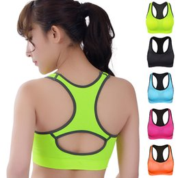 986a565e8fa01 HOT Professional Women Fitness exercise Sports Bra Push Up Breathable Yoga  Bras Underwear GYM lady Running Neon Color Quick Dry