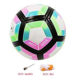 Wholesale Paste Cup - New A++ Premier PU Soccer Ball 2018 World Cup soccer Ball high-grade seamless paste skin football indoor & outdoor game football