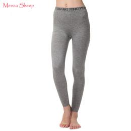 Wholesale Sheep S Wool - Menca Sheep Brand Woman's Leggings High Elastic Winter New Arrival Ladies Pants Cashmere Wool Blend Knitting Legging