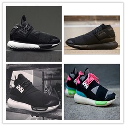 Wholesale Y3 Boots - All Black Color Mens Y3 Qasa High Top Sneakers Good Quality Womens Shoe Unisex Men Classic Y-3 Black Red Shoes Boots Size 36-44