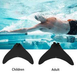 Wholesale Mermaids Child - Swimming Training Children Adult Swimming Fins Mermaid Swimming Foot Flipper Diving Flippers Swimmable Tails Fin DDA374