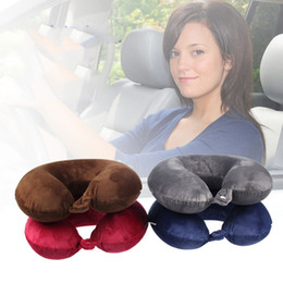 office travel pillow Canada - Super Soft Memory Cotton U-Shape Pillow For Aircraft Car travel U-pillow For Slow Rebound Can Be Disassembled And Washed Office