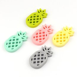 Wholesale Infant Silicone - Infant pineapple Teethers food silicone Toddler fruit pineapple Soothers baby molar training C3490