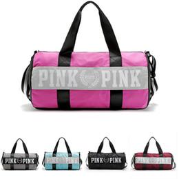 Wholesale Beach Tennis - Love Pink Storage Bag Men Women Travel Duffel Bag Waterproof Casual Beach Exercise Luggage Bags Hangbag Little Bags Inside