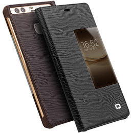 Wholesale handmade brands - B11 Classic leather case for Huawei P9,good quality handmade business cover for Huawei P9