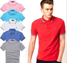 Wholesale Wholesale Youth Shirts - Brand Designer - hot sale New Brand 2017 embroidery Polo Shirt Men Short Sleeve Casual Shirts Man's Solid Polo Shirt youth Paul shirt loose