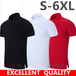 Wholesale White Cotton Fitted Tee Shirts - embroidery Polo Shirt Men Brand Designer camisa polo Summer Slim Fit Turn Down Collar Mens Polos Short Sleeve tee shirt homme plus size 5xl