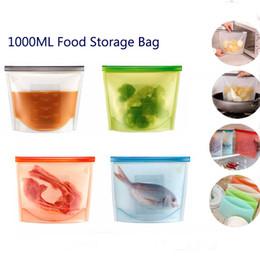 Deutschland Lebensmittelqualität Wiederverwendbare Silikon Vakuum Lebensmittel Frische Taschen Wraps Kühlschrank Lebensmittel Aufbewahrungsbehälter Kühlschrank Tasche Küche Farbige Ziplock Taschen Versorgung