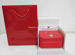 2020 scatola di chi per orologio Original Box Paper Red Leather Boxes Borsa per Planet Ocean Co-Axial Skyfall James Bond 007 CAL.8500 8900 Scatola per orologio scatola di chi economici