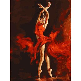 Wholesale Dancers Wall Decor - Frameless Wall Art Balle Dancer Picture Painting By Bumbers Hand Painted Oil On Canvas Home Decor For Living Room 40*50cm
