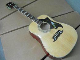 voando guitarra branca Desconto Frete Grátis Gibsondave Guitarra Acústica Feita De Solid Maple Fir Top rosewood lado e de volta em 120217 natural
