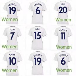 Wholesale Ladies White Uniform Shirt - KANE Women Home White Soccer Jersey 17 18 SON DELE Football Jerseys DEMBELE ERIKSEN Club Team Short Soccer Shirt Lady Uniforms