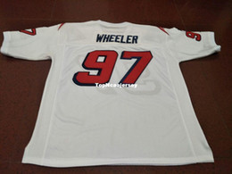 ce0683ce5 Cheap Men Custom  97 MARK WHEELER Game Worn Retro Jersey With Team Men College  Jersey Size S-4XL or custom any name or number jersey