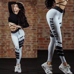 Wholesale Spot Tights - Hot Sale New Sexy Leggings Yoga Fitness Running Boxing Pants Spot Letter Printed Yoga Pants Printing Leggings Tights Outfits Pants YJK15