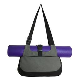 Wholesale Mm Backpacks - Best Deal Multifunctional Yoga Mat Canvas Bag Backpack Shoulder Messenger Sport Bag For Women Fitness Duffel Clothes Gym