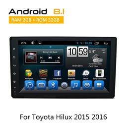 Dvd toyota hilux online-Für Toyota Hilux 2016 Auto Audio Auto DVD Player Navigation Android 6.0 8.1 Autoradio mit AUX Bluetooth SWC 3G RDS