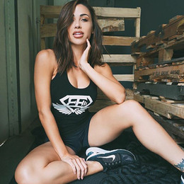 Wholesale Bodybuilding Clothing Women - Women Sexy Gyms Sporting Tank Tops Stringer Singlet Bodybuilding Fitness Tank Top Shirts Clothes Women Casual Clothing Tops