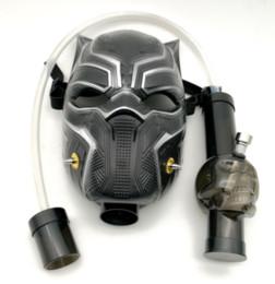 2019 máscara de fumar atacado Máscara de gás Bong NOVO Arrivel Preto Pantera Água Shisha Acrílico Tubo De Fumo Sillicone Máscara de Tubos de Tabaco de Cachimbo de Água Frete Grátis Por Atacado desconto máscara de fumar atacado