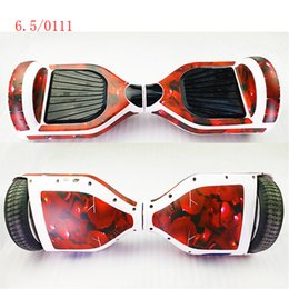 Wholesale two wheel balance boards - 6.5 Inch Self-Balancing Scooter Skin Hover Electric Skate Board Sticker Two-Wheel Smart Protective Cover Case Stickers