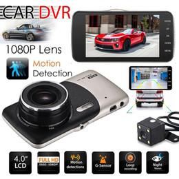 Dvr detector radar espelho retrovisor on-line-2018 Dual Camera Lens HD Carro DVR Traço Cam Video Recorder G-Sensor de Visão Noturna 3 Anos de Garantia 24H Despacho 30-Day Money Back