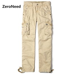 Wholesale Dark Grey Work Pants - 2017 New Arrival Cargo Pants Men Multi Pocket Cargo Hommes Casual Pantalones Jogger Men Work Wear Long Trousers Cotton Pant 90
