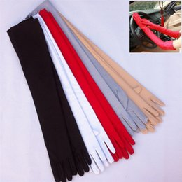Wholesale Outdoor Wedding Supplies - For Women Ultraviolet Proof Glove Comfortable Five Fingers Spandex Long Gloves Outdoor Sports Biking Mitten Wedding Decorations 3 2ys B