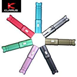 2019 aa batería cree led Klarus Mi7 700lumens CREE LED mini EDC Linterna AA batería (7 colores disponibles) aa batería cree led baratos