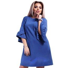 2018 Primavera Estate Donna Dress Allentato moda flare manica patchwork  ginocchio abiti Fat MM plus size abbigliamento donna vestito 6XL 680e830e059
