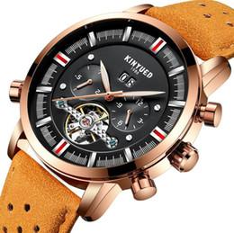 342a023f9f1 KINYUED Mens Relógios Mecânicos Marca de Topo de Luxo Perpetual Tourbillon Relógio  Automático Homens Esqueleto Calendário Relogio masculino JYD-J019