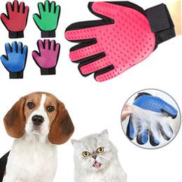 Hundekäfige handschuhe online-VoFord Haustier Hund Haarbürste Handschuh Für Pet Reinigung Massage Pflege Kamm Versorgung Finger Reinigung Pet Katzen Haarbürste Handschuh Für Tier