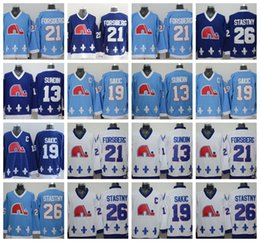 quebec nordiques hockey jersey Coupons - CCM Quebec Nordiques Jerseys Ice  Hockey 13 Mats Sundin 21 b0ba262f3