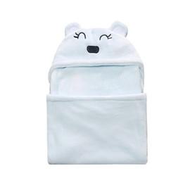 Babytücher decken online-Kinder Beschichtung Tier Bär Form Baby Kapuzen Bademantel Jungen Peridium Baby Badetuch / Baby Decken / Neugeborenen halten