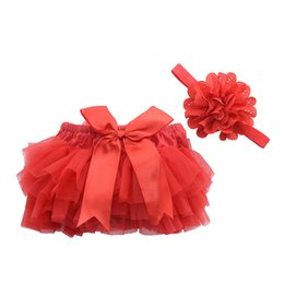 Wholesale Newborn Ruffled Diaper Cover - Baby Ruffle Bloomers Cotton Chiffon Cute Baby Diaper Cover Newborn Flower Shorts Toddler Fashion Summer Satin Pants