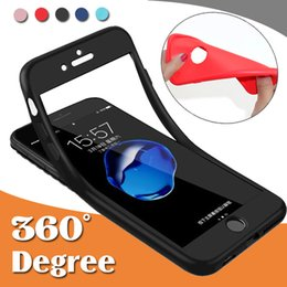 Wholesale Iphone Protective Skins - 360 Degree Coverage Full Body Hybrid Protective Shockproof Anti-Shock Ultra Slim Soft TPU Case Cover Skin For iPhone X 8 7 Plus 6 6S 5 5S