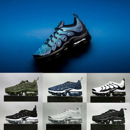 Wholesale Cutting Photos - Photo blue Vapormax TN Plus Olive In Metallic White Silver Colorways Shoes Men Shoes For Running Male Cool Grey Triple Black Mens Shoes