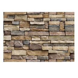 Wholesale Self Adhesive Wallpaper Bricks - 45x100cm 3D Decorative Wall Decals Brick Stone Rustic Self-adhesive Wall Sticker Home Decor Wallpaper Roll for Bedroom Kitchen