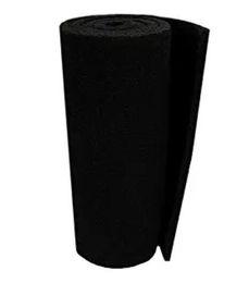 Filtro recubierto online-Cojín de filtro clásico Koi Pond COARSE 18 pulgadas x 72 pulgadas x 3/4 a 1 pulgada NEGRO Material de filtro a granel en rollo, revestido de látex rígido ultraduradero