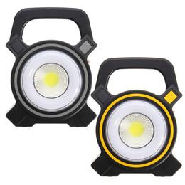 Luces de inundación llevadas del punto online-Luces solares Powered USB Portátil 30W LED reflector Linternas COB Spot recargable LED Flood Light Lámpara de punto de trabajo al aire libre 2400Lm