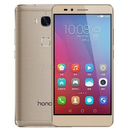 Wholesale Huawei Honor 2gb - OriginalRefurbished Huawei Honor 5X 4G LTE 5.5 inch Octa Core 2GB RAM 16GB ROM 13.0MP Android Smart Mobile Cell Phone Free DHL 1pcs