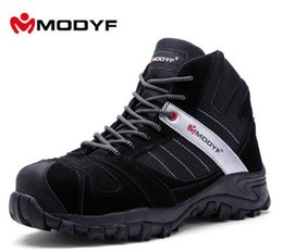 Wholesale boot toe cap - Modyf Men Winter Warm Steel Toe Cap Work Safety Shoes Outdoor Ankle Boots Fashion Puncture Proof Footwear M170131
